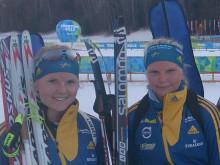 Svenskorna 19:e och 20:e i skidskyttesprinten i Universiaden i Trentino
