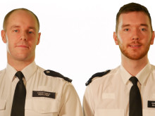 PC Marc Woolmer (left) and PC Alex Field (right), Islington