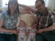 Dad and his colleagues run to thank charity which helped his premature twins