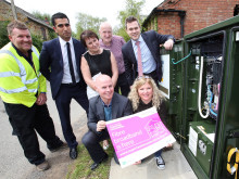 Leicestershire villagers celebrate game-changing fibre upgrade