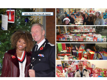 Montage of Met's Xmas Tree Gift Appeal