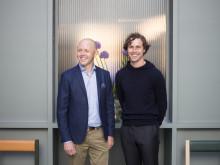 Koncernchef Hubert Kjellberg & Sana Labs VD och grundare Joel Hellermark