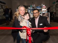 Vision Express charity pledge for child eye cancer as Drew reopens Walton store