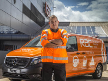 Ben Wilson, RAC's 2015 Patrol of the Year, with the P1 RAC Mercedes Vito