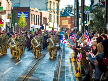Fusiliers Parade down Drake Street