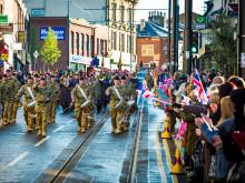 Fusiliers Parade down Drake Street