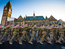 """Welcome home"" - Rochdale salutes Fusiliers in homecoming parade"
