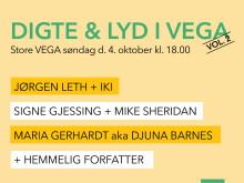 Digte & Lyd vender tilbage til VEGA med nyt imponerende program