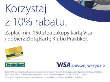 Wspólna promocja Visa i sieci Praktiker