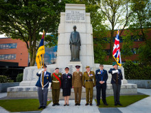 Members of the Armed Forces in Heywood Memorial Gardens