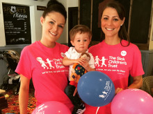 Supportive friend aims to raise hundred for sick children's charity
