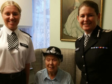 Former officer celebrates 100th birthday
