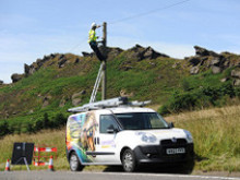 Quick as a Flash - superfast broadband is delivered to UK's highest village