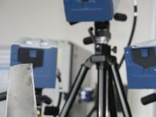 Labor für Maschinendynamik und lärmarme Konstruktion: 3D-Laser-Schwingungsmessplatz