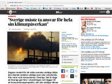"""Diakonia på DN-debatt: """"Sverige måste ta ansvar för hela sin klimatpåverkan"""""""