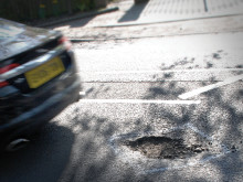 Study shows pothole-related breakdowns double in 10 years