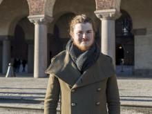 Theodor Smart Randquist intervjuas i StockholmDirekt