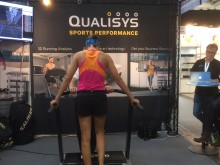 A runner at the treadmill at ISPO