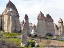 Ancient Civilizations amidst Cappadocia's Spectacular Lunar Landscape