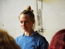 Laura Hagemann vom Theaterkollektiv Berlocken beim Auftakttreffen von #nofear in Bochum.
