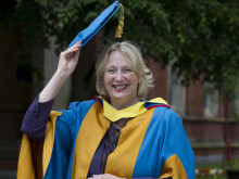 Virgin Money chief Jayne-Anne Gadhia receives Honorary Degree from Northumbria University