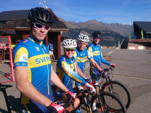Mountainbikelandslaget laddar inför VM