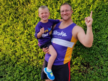 Father and son duo take on the Bupa Great North Run and Mini Great North Run for stroke