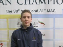 Kim Wanström kämpar för en plats i Ungdoms-OS på JEM i  manlig artistisk gymnastik i Sofia