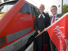 'DURHAM CATHEDRAL' TRAIN ARRIVES FOR A SPECIAL DEPARTURE