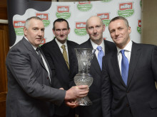 The Pryce Brothers with Graeme Jack and the Winners Trophy
