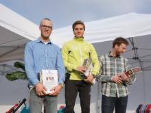 NM i Slappa-vinner Alexander Hoel sammen med pallkameratene Eivind Susorp og Øistein Birkeland.