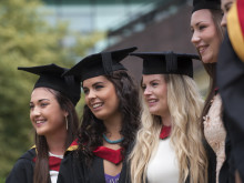 Students graduating at Northumbria