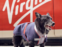 Tribute to Jake the Trainspotting Dog by Virgin Trains