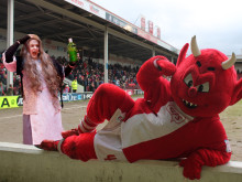 Esmerelda's date night with Reggie the Red Devil