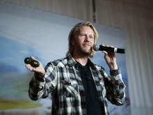 Erik Nissen Johansen pratar på Konfex Göteborg