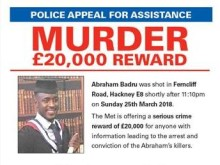 Reward offered following murder in Hackney