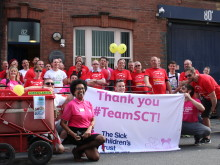 Posties' 20 mile push to raise thousands for charity