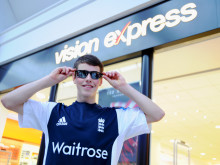 Howzat! Vision Express backing means success is in sight for eye cancer cricketer, James