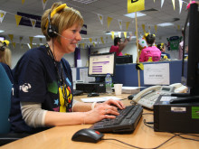 BT volunteers at Lincoln call centre support BBC Children in Need