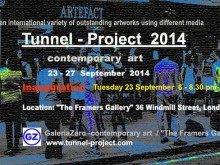 "Invitation to the ""Tunnel Project"" - Fitzrovia, London."