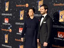 H.K.H. Prins Carl Philip och H.K.H. Prinsessan Sofia på Svenska Idrottsgalan 2016