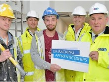 MP makes onsite visit to meet construction apprentices