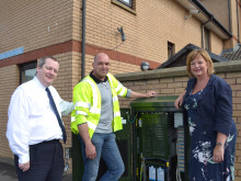 Fiona Hyslop MSP gets up to speed with with superfast broadband