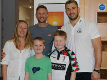 Chris Robshaw visits Stevenson House