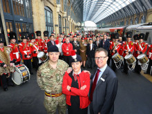 Train saluted by The Fusiliers