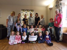 Tots Raise £18,000 For Sick Children's Charity By Popping On Their Pyjamas