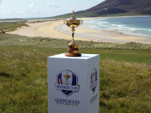 Ryder Cup Trophy Tour visits The Isle of Harris Golf Club!