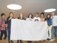 Young women from Rochdale celebrate International Women's Day