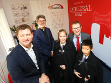 George Clarke opens Virgin Trains' amazing community space