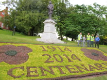 Flowerbed proudly commemorates Great War Centenary